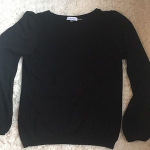 Calvin Klein size large top with sheer sleeves